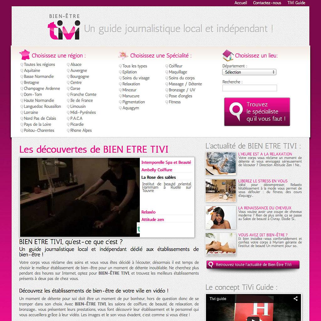 Portail Internet bienetre-tivi.com