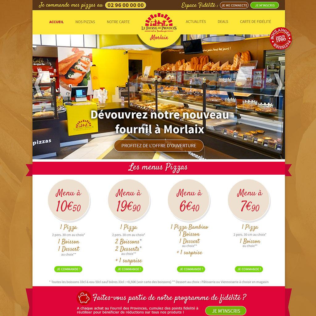 Site boulangerie franchisée
